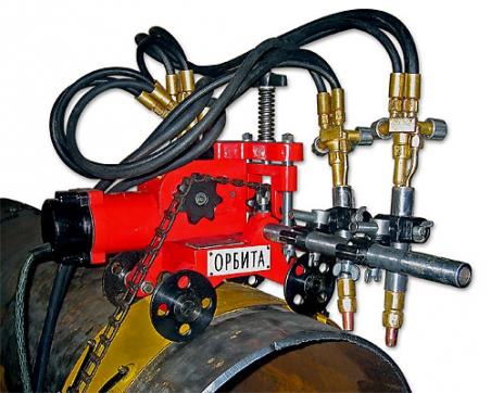 Переносная машина для резки стальных труб Орбита-БМ