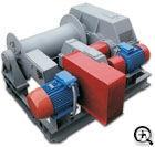 Лебедка тяговая промышленная электрическая ТЭЛ-10Д (две скорости т/с 10000 кг)