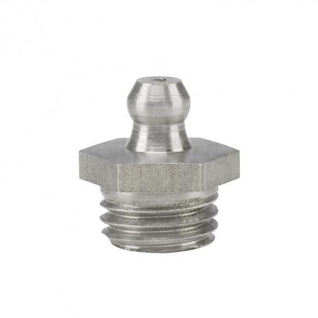 15917 Прессол Пресс-масленка коническая, прямая, нержавеющая М12х1,5