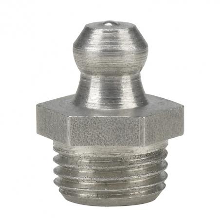 15913 Прессол Пресс-масленка коническая, прямая, нержавеющая М10х1